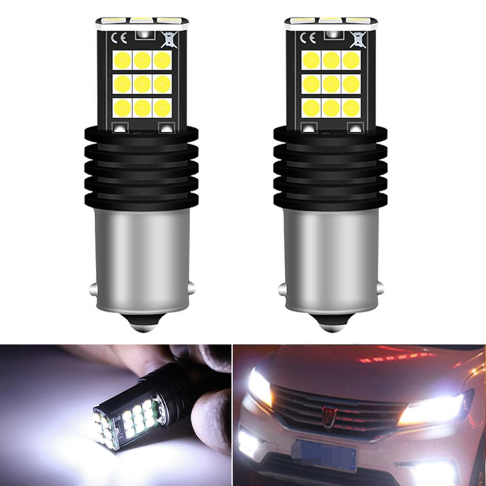 2x 1200LM Canbus P21W 1156 BA15S <font><b>LED</b></font> Bulb Back Daytime Running Light DRL Lamp For <font><b>Skoda</b></font> Superb <font><b>Octavia</b></font> 2 FL <font><b>2010</b></font> 2011 2012 2013 image