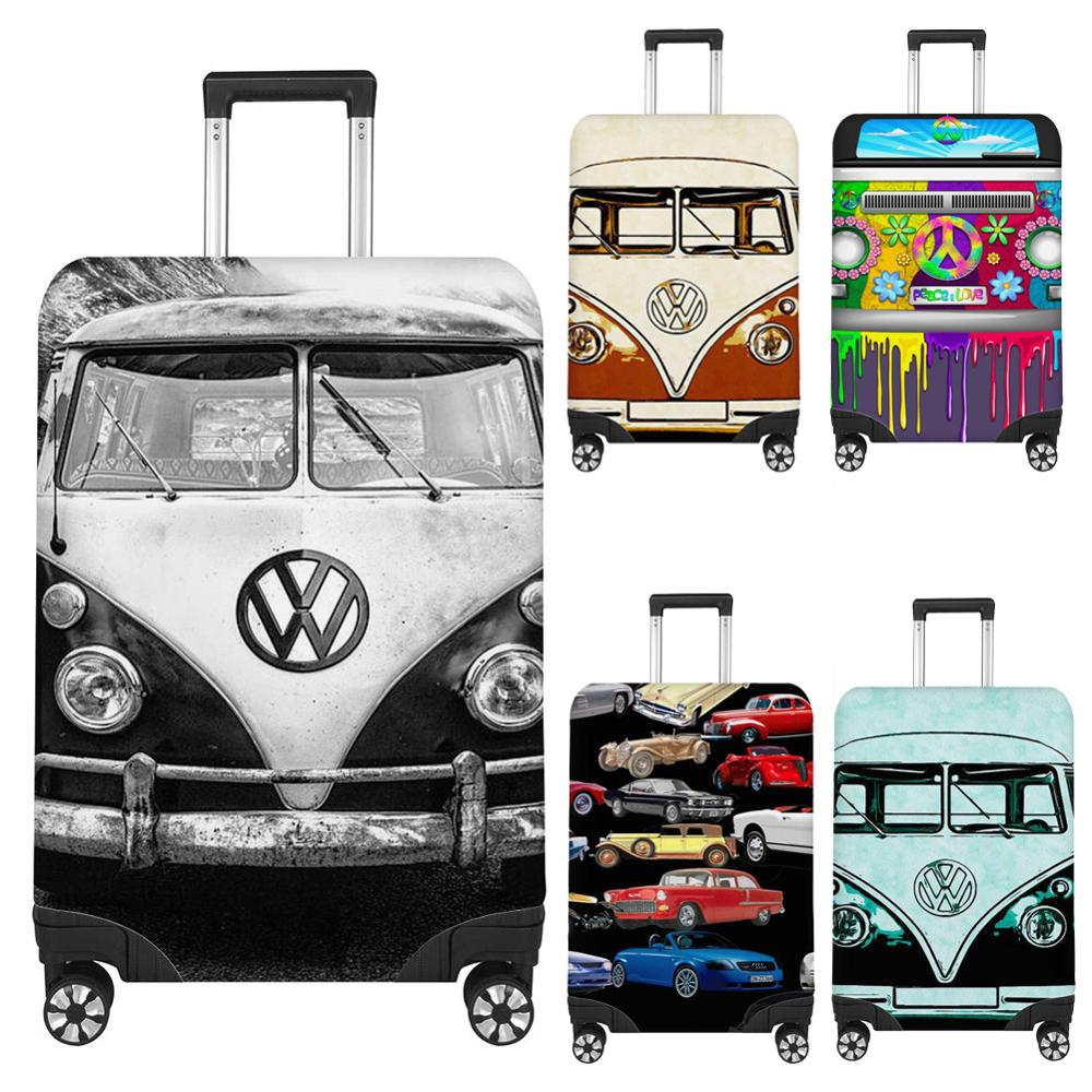 FORUDESIGNS Unique Car Print Travel Luggage Protective Dust Covers Waterproof 18''-32'' Suitcase Cover Elastic Trunk Case Covers