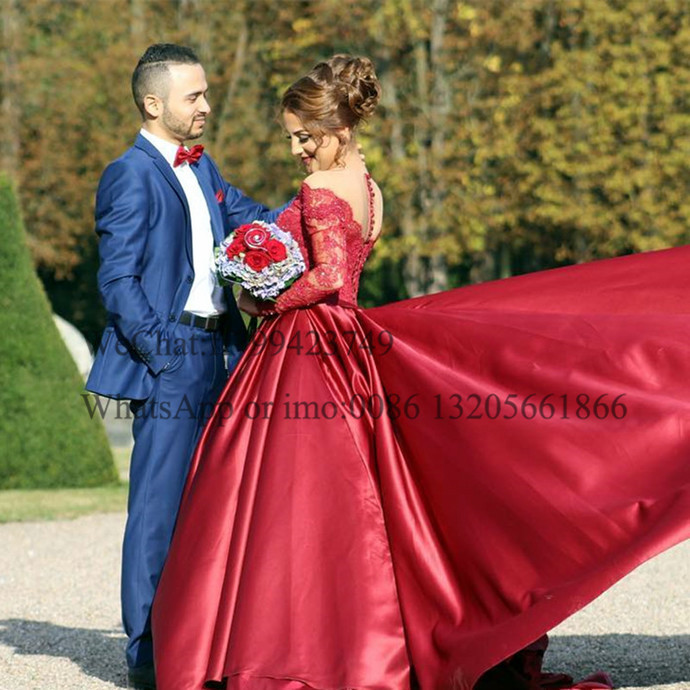 Formal Long Sleeve Red Prom Dresses 2021 Off Shoulder Applique Lace Sweep Train A Line Long Evening Dress Party For Women платье