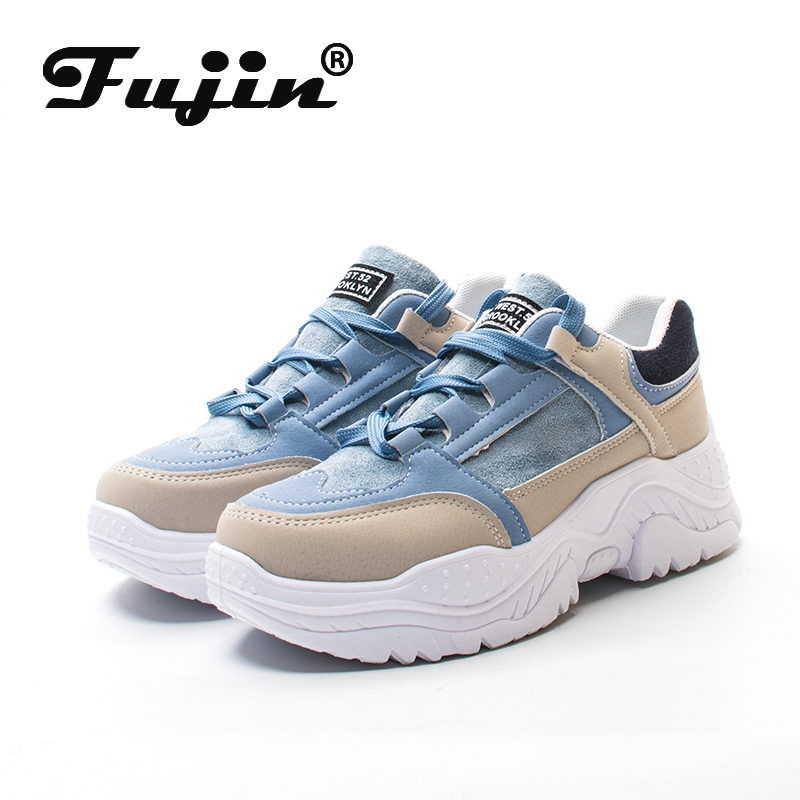 FUJIN Women Casual Sneakers Spring Autumn Sneakers Breathable Women Shoes Lace Up Female Boots Comrfortable Platform Shoes Women(China)