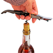Creative Bottle Opener Stainless Steel Wine Corkscrew Beer Bottle Can Remover Cutter For Kitchen Tools Bar Accessoires  - buy with discount