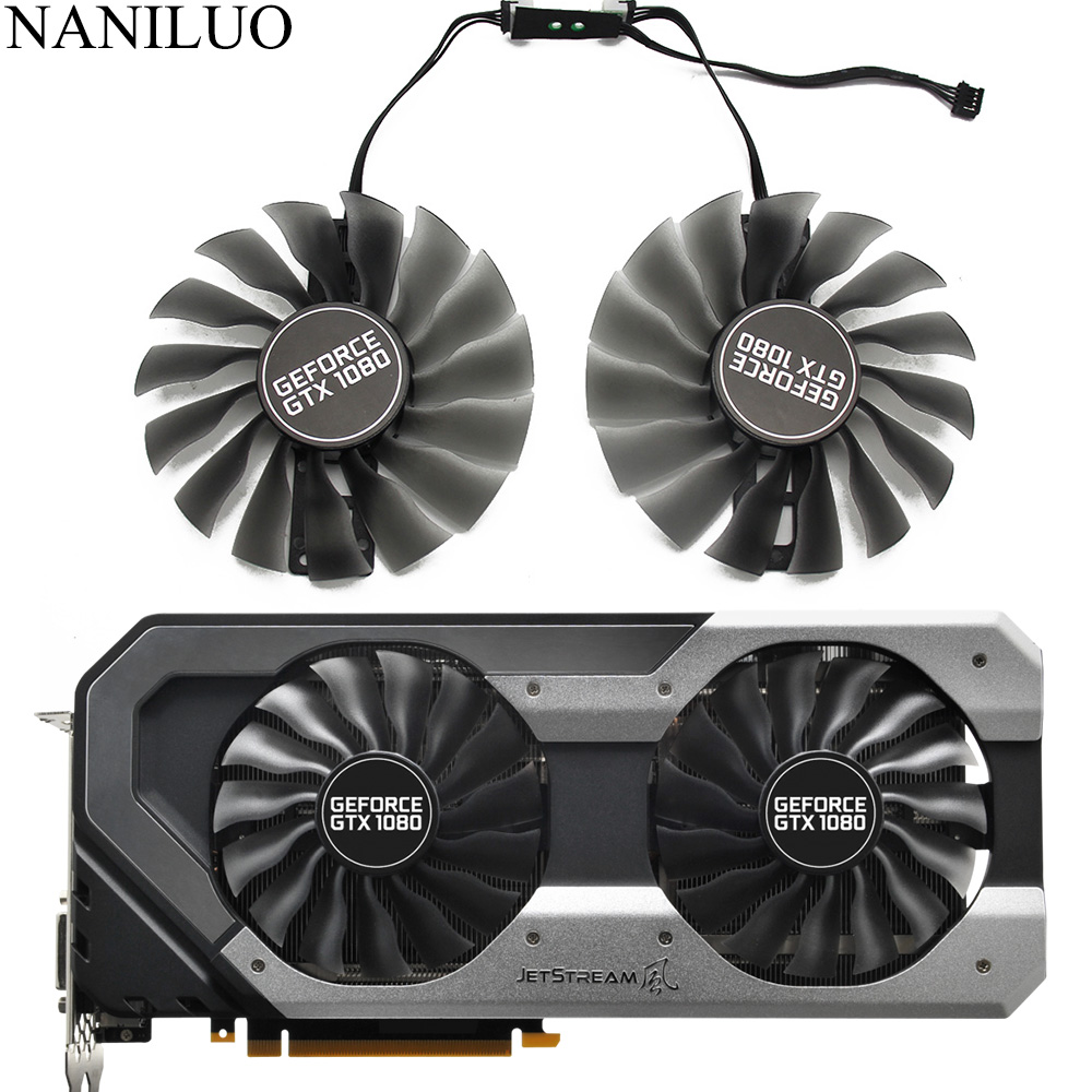 95MM Fan GTX1080 GPU Cooler For Emtek Palit GTX 1080 OC Super JetStream Graphics Card Cooling Fan