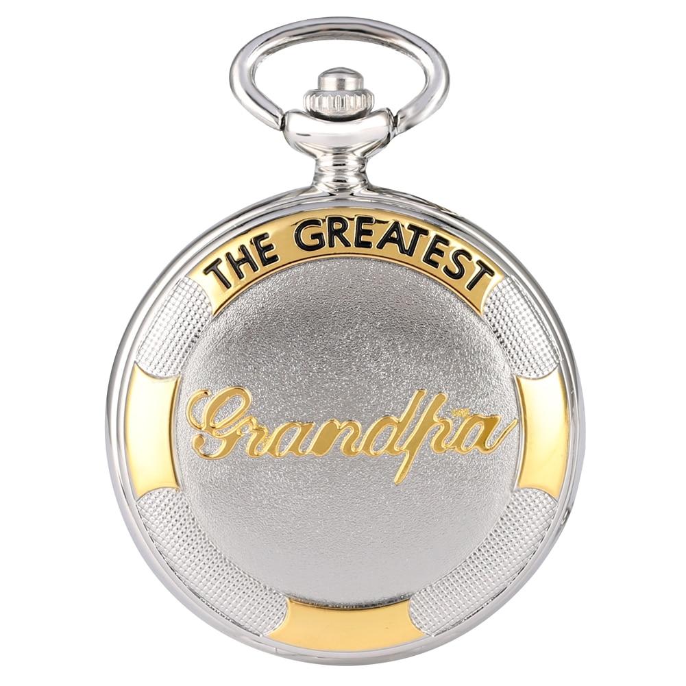 New Fashion Quartz Pocket Watch Silver Gold Grandpa Pendant Watches Full Hunter Steampunk Clock Men Women Gifts Cep Saati