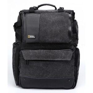 Image 3 - 내셔널 지오그래픽 NG W5072 가죽 카메라 가방 배낭 디지털 비디오 카메라 여행 가방에 대 한 대용량 노트북 운반 가방