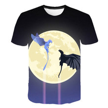 New Cute Cartoon Moon 3D T Shirts For Girl Elegant Beauty Shirt Casual Tops How to Train Your Dragon Print Tees T-shirt