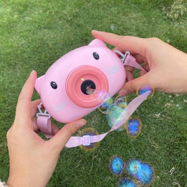 HISTOYE Douyin ta sama maszyna do baniek mydlanych mała różowa świnia elektryczna bańka dmuchanie aparat świnia dziewczyna prezent zabawka dla dzieci wróżka dla dzieci