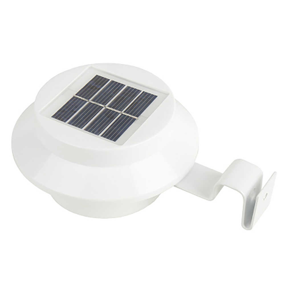 LED Solar Powered Gutter Lights Outdoor Garden Yard Wall Pathway Fence Lamp US