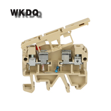 купить 10pcs ASK 1ENLED with Fuse And Led Equivalent to WEIDMULLER Screw Fuse Terminal Block for Din Rail Connector дешево