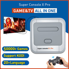 Super console x pro vídeo game console hd saída plug and play retro game console embutido 50000 + jogos para psp n64 ps1 dc snes