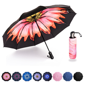 Image 1 - พับอัตโนมัติร่มInverted Inside Out Rain Rainผู้หญิงร่ม 10 ซี่โครงStrong Windproofผู้หญิงร่ม