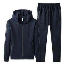 New Spring Men Tracksuit Streetwear Casual Men's Set 2021 Hoodies Sportswear Mens Two Pieces Set Zipper Jacket+Pants Sports Suit