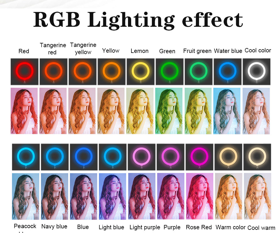 Hd768d3ae2fd94b38a581e184a5c82e538 Orsda 10-13 Inch RGB Ring Light Tripod LED Ring Light Selfie Ring Light with Stand RGB 26 Colors Video Light For Youtube Tik Tok