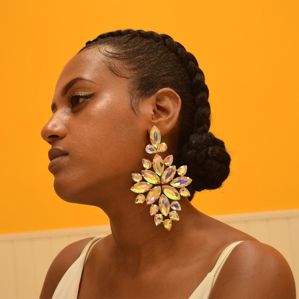 all rhinestones glass drop earrings for wedding brdal (13)