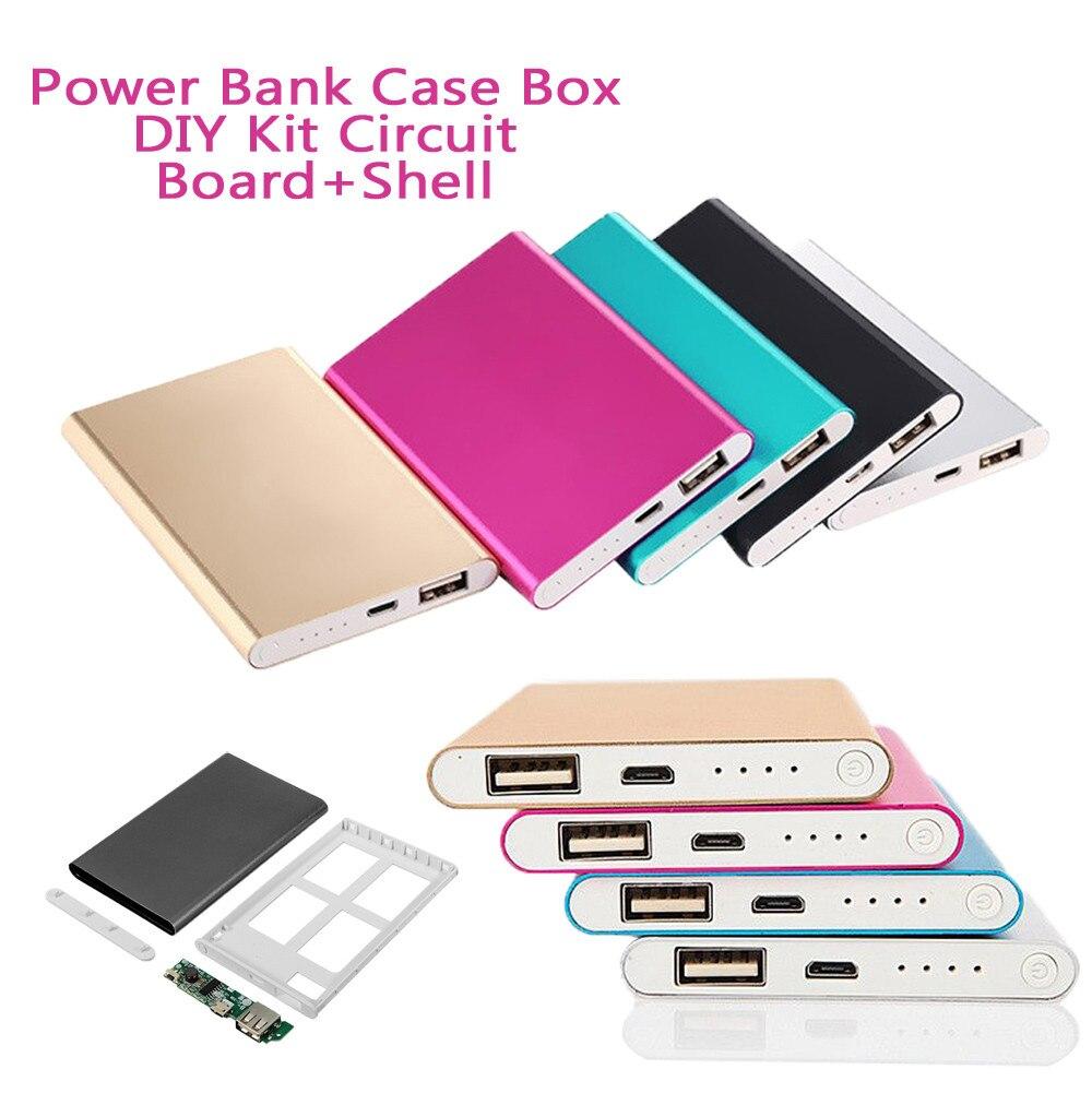 Лидер продаж, портативный внешний аккумулятор 4000 мАч, чехол, коробка, набор «сделай сам», печатная плата + Корпус для смартфона, поддержка оп...