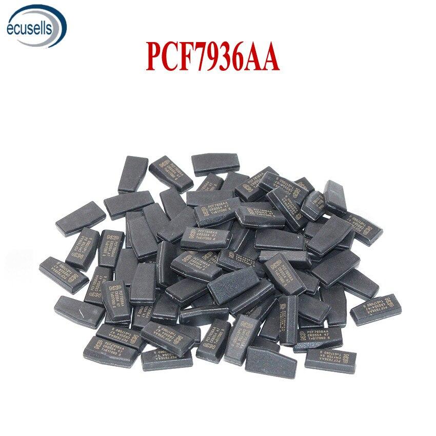 10 шт., 100 шт., заводская цена, чип PCF7936AA (обновленная версия PCF7936AS), чип транспондера из углеродного волокна, Керамический чип для автомобиля, пу...