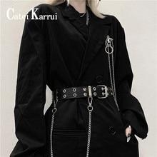 Jeans Belt Double-Buttonhole Buckle Female Women Catei Karrui Retro-Punk-Rock NEW