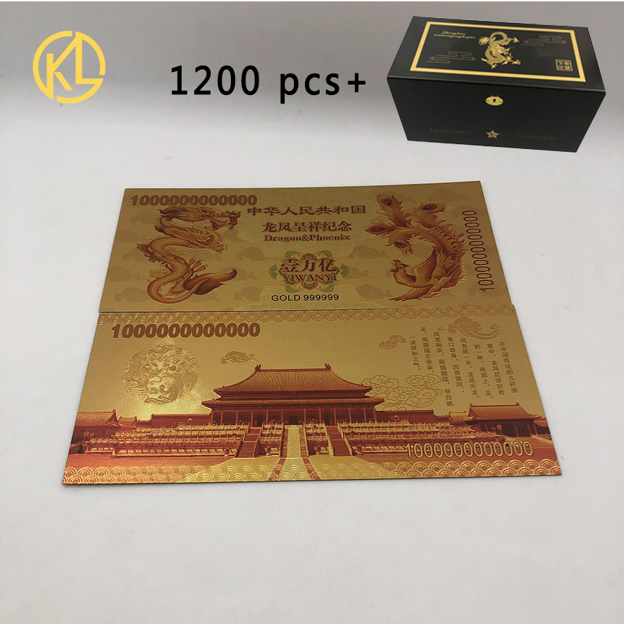 LOT 100 PCS,Chinese Century Dragon 100 trilli Commemorative Test notes//free ship