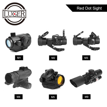 цена на LUGER Red Green Dot Sight  Hunting Scopes Tactical Optics Reflex Sight Riflescope 20mm Rail For Airsoft Air Gun Rifle Scope
