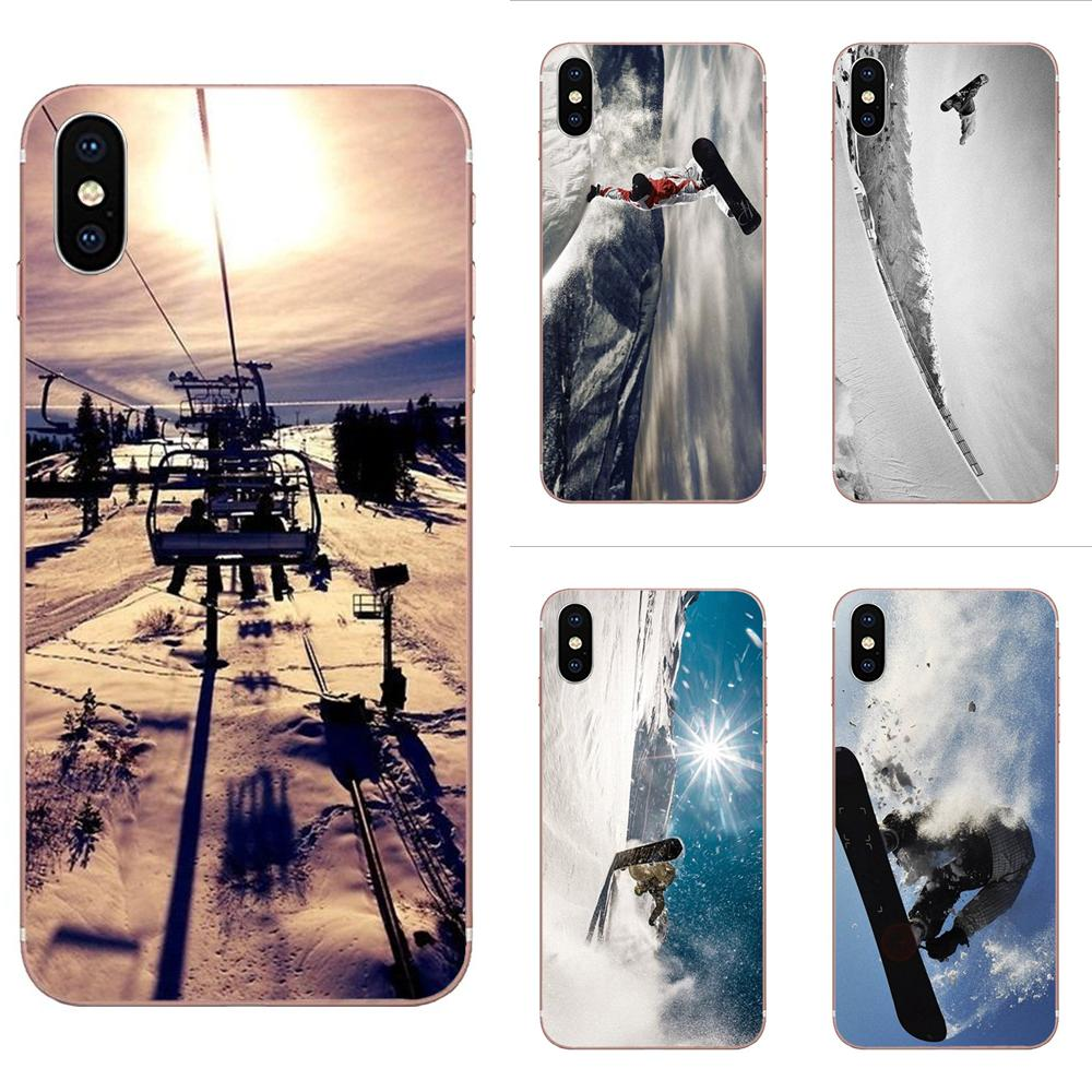 Soft TPU Mobile Pouch For Galaxy S20 Plus A01 A10 A10S A20 A20S A30 A40 A50 A50S A70 Awesome Love Snow Or Die Ski Snowboard