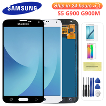 100% Test Lcd do Samsung Galaxy 4G S5 i9600 G900 G900M G900F wyświetlacz Lcd ekran dotykowy Digitizer zgromadzenie (nie kompatybilny G900H)