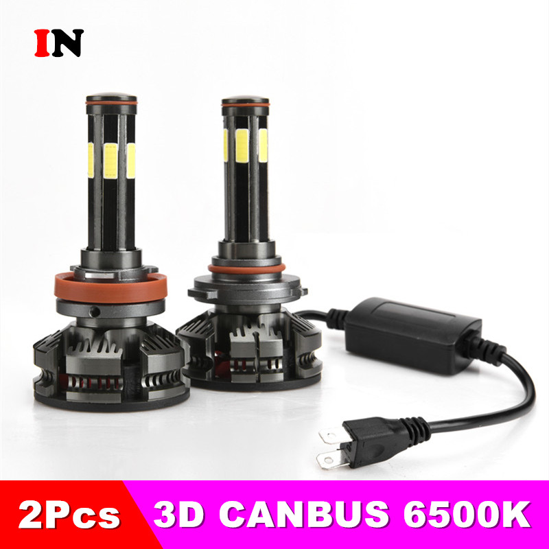 New Arrival H4 Led H7 With No Error Car Headlight Bulbs H11 LED H8 HB3 9005 HB4 9006 Lamp 6500K 12V 16000LM Auto Led  Fog Lights