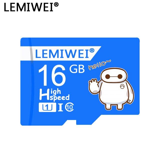 Tarjeta TF LEMIWEI Baymax de alta calidad 64GB Clase 10 tarjeta de memoria impermeable 32GB Mini tarjeta para teléfono tableta PC impermeable
