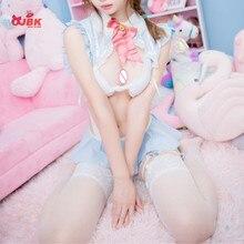 OJBK Sexy Sailor Month Cosplay kostiumy School Girl bielizna erotyczna mundury kostium króliczka kobiety bielizna do odgrywania ról strój pokojówki