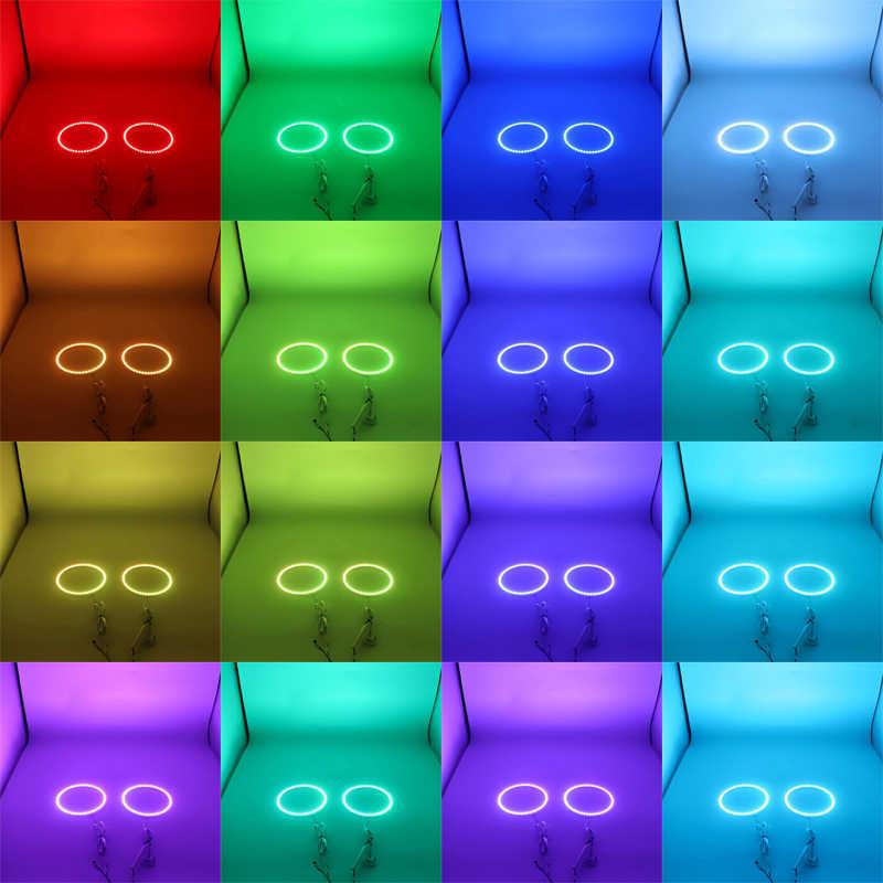 Para mercedes benz classe e w211 2003-2009 de alta qualidade multi-cor angel eyes led rgb farol conjunto de anel de auréola rf controle remoto