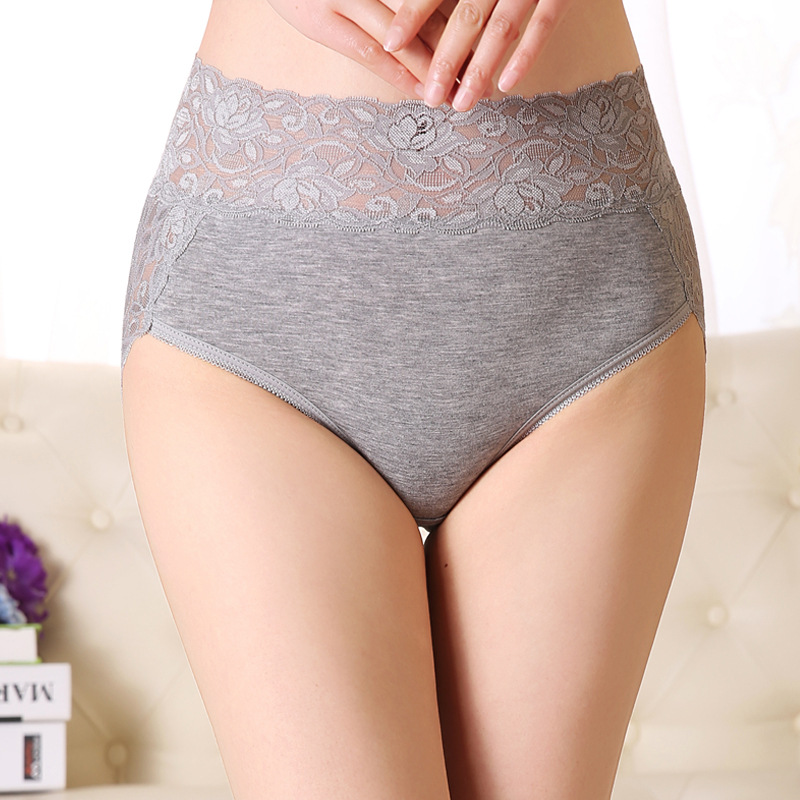 40-130kg Plus Size <font><b>Women</b></font> Underwear <font><b>Breathable</b></font> Lace Briefs High Waist Warm Female <font><b>Sexy</b></font> Ultra-thin <font><b>Panties</b></font> Seamless Pants image