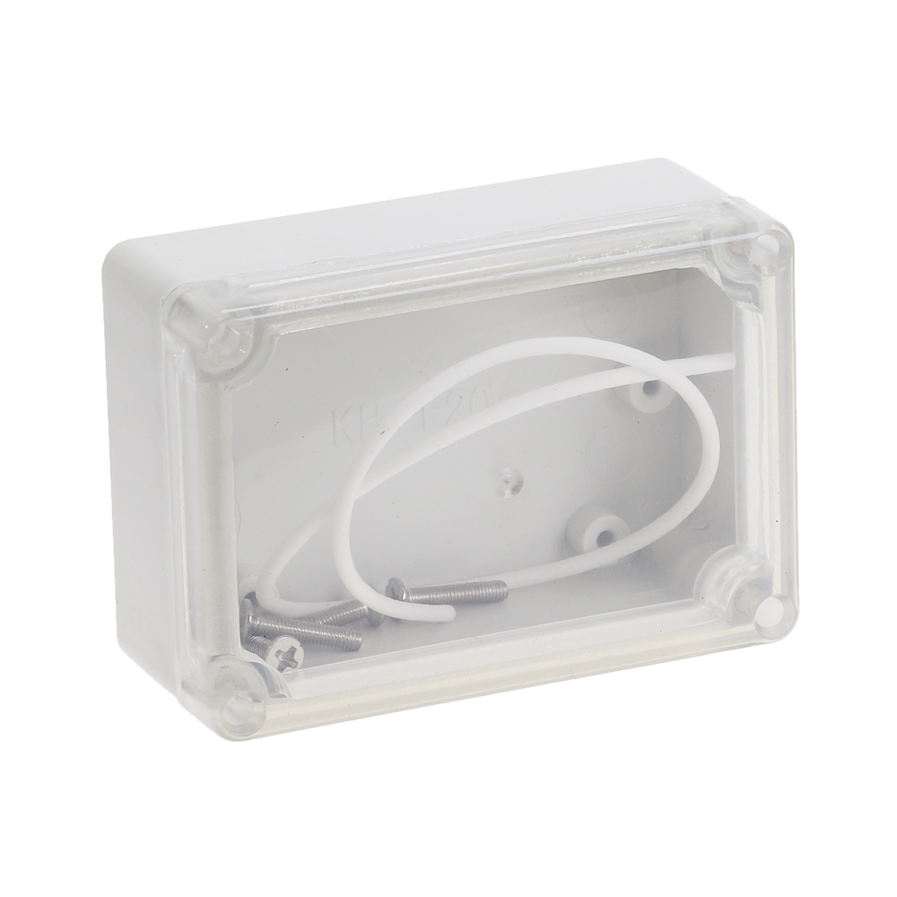 1pc Plastic Waterproof Clear Cover DIY Project Electronic Box 82.2mmx57.2mmx33.3mm Enclosure Case