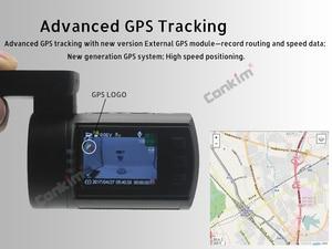 Image 4 - Conkim سيارة بعدسة مزدوجة داش كاميرات لتحديد المواقع DVR الجبهة 1080P + كاميرا خلفية 1080P FHD وقوف السيارات الحرس السيارات المسجل Mini 0906 PR0 داش كام
