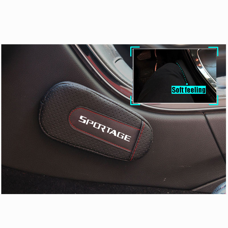 High Quality Leather Leg Cushion Knee Pad Car Door arm pad Interior Car Accessories For Kia Sportage