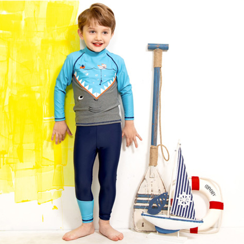2019 New Style KID'S Swimwear Men And Women Children Long Sleeve Trousers Sun-resistant Split Type Swimsuit Diving Suit Quick Dr