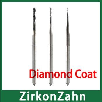 ZirkonZahn Milling Bur End Mill Diamond Coat Special for Milling Zirconia Block Long Service Time