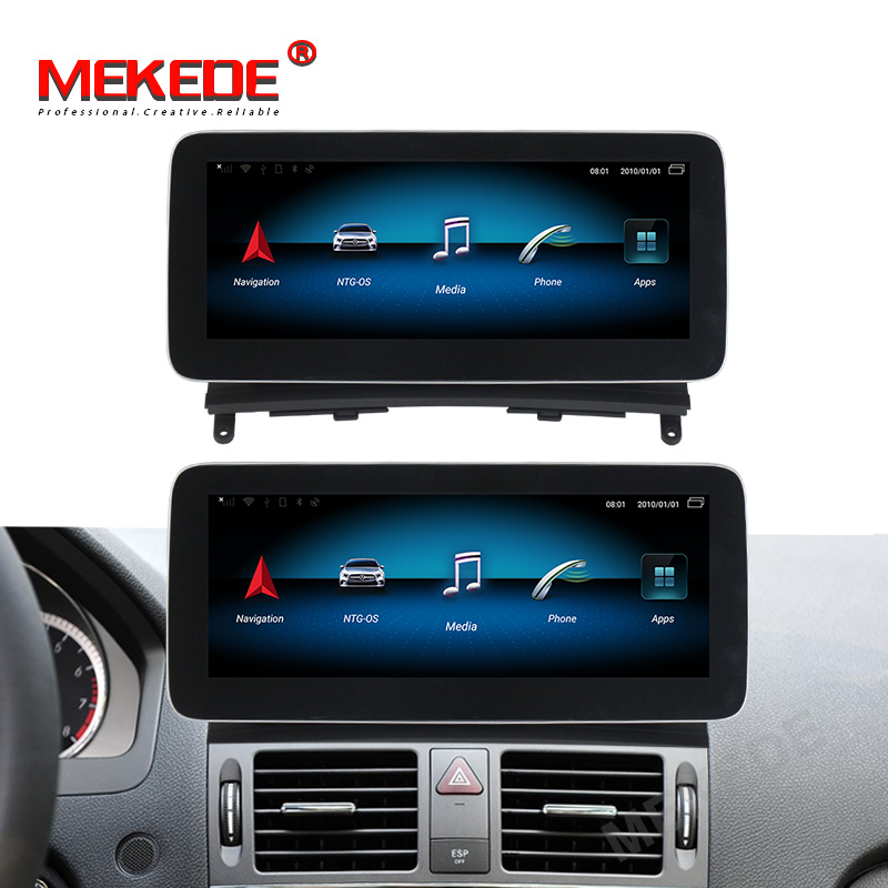 Octa cores!<font><b>android</b></font> 9.0 car gps <font><b>navigation</b></font> radio player for Mercedes benz C Class <font><b>W204</b></font> 2008-2010 4GB+64GB 4G LTE wifi BT carplay image