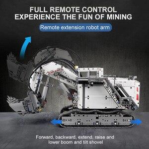 Image 3 - עובש מלך טכני לבני שלט רחוק 42100 Liebherrs חופר R9800 מנוע כוח רכב דגם ערכת אבני בניין צעצועי DIY