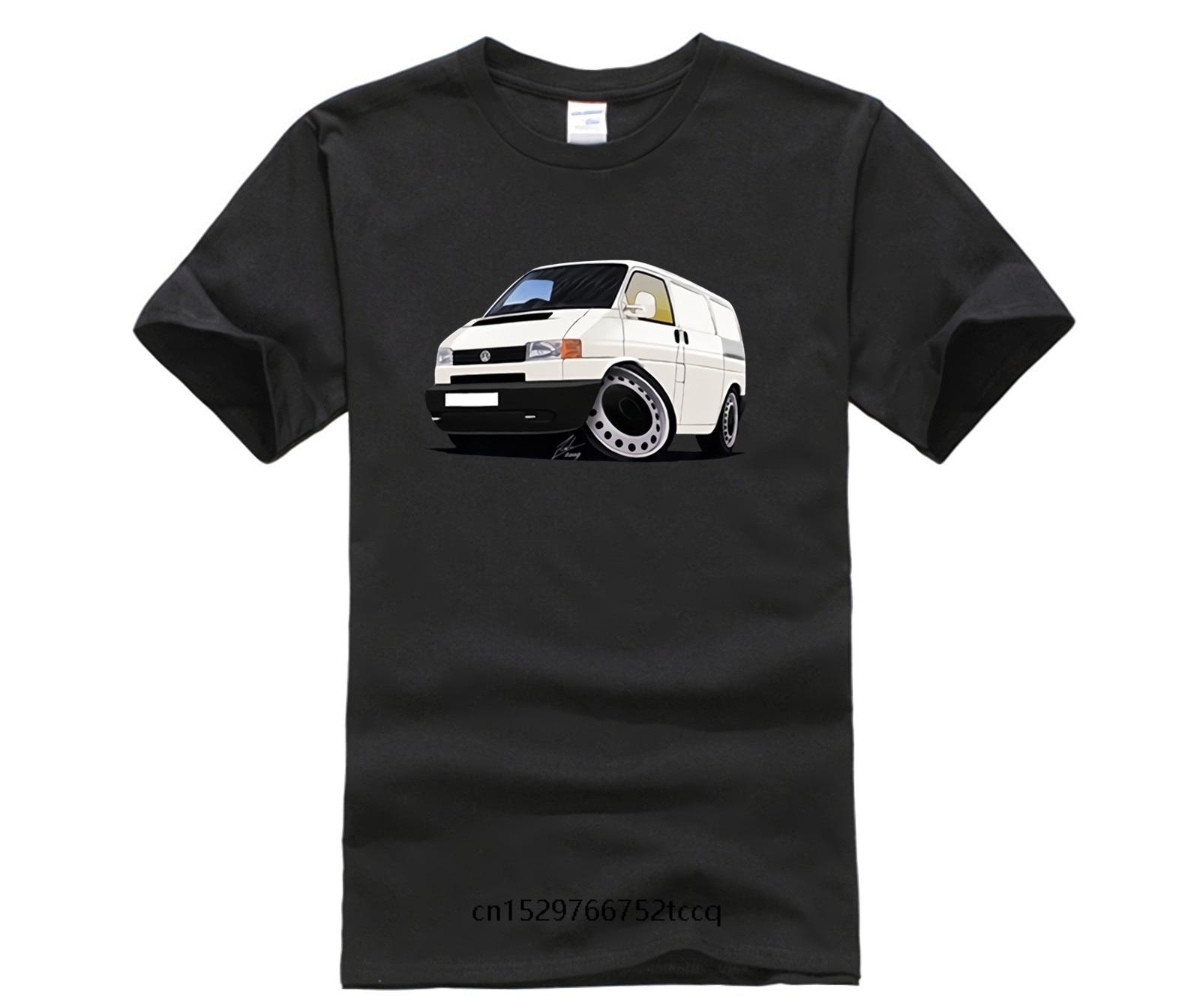 Mens Summer Shirts Short Sleeve Volkswagen T4 Transporter Mens Round Collar Short Sleeve Cheap Homme Cool Tshirt