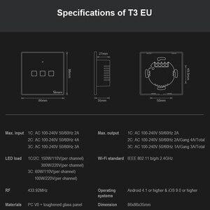 Image 2 - SONOFF T3 TX SmartSwitch Wifi ścienny przełącznik dotykowy z obramowaniem Home 433 zdalny RF/głos/APP/sterowanie dotykowe praca z Alexa EU