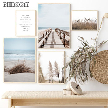 Scandinavian Reed Nature Landscape Beach Poster Nordic Style Print Wall Art Canvas Painting Picture Modern Home Decoration