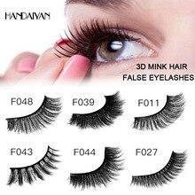 лучшая цена Mink Eyelashes 3D False Popular Lashes 100% Cruelty Free Handmade Reusable Natural Eyelashes Eye Makeup Faux Cils Maquiagem Tool