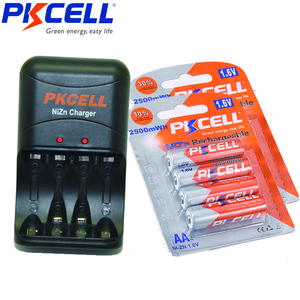 Image 1 - 8PCS PKCELL 1.6V AA NI ZN battery 2500mWh 2A aa Rechargeable Batteries and 1PCS NI ZN Battery Charger for AA AAA battery