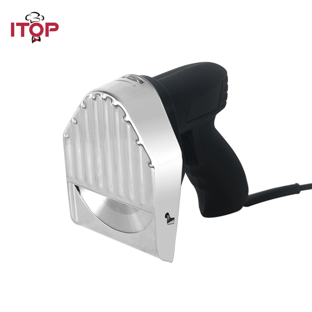 ITOP Electric Kebab Slicer Shawarma Cutter With 2 Blades Roast Meat Cutting Machine Kitchen Acessories 110V/220V/240V