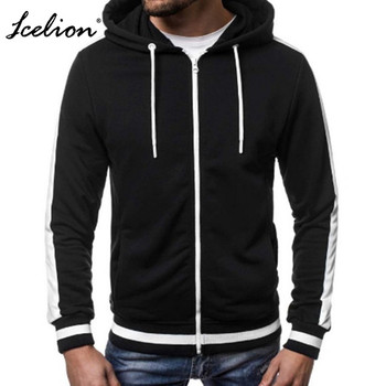 IceLion 2019 Sweatshirts Men Fashion Brand Hoodies Buttons Solid Color Hip Hop Mens Cotton Sportswears Male Hooded PulloversV