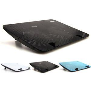 Pannello di metallo Doppia Ventola di Raffreddamento Notebook Ad Alta Velocità di Raffreddamento Del Computer Portatile Pad di Raffreddamento Del Basamento Sottile per PC Da 15.6 Pollici Del Computer