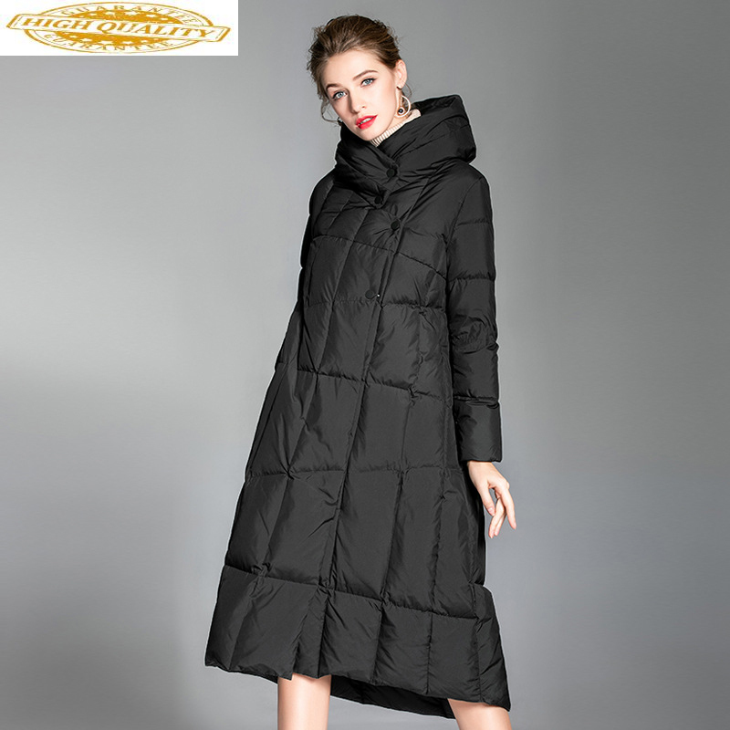 2020 New Women's Down Jacket Winter Coat Long 90% White Duck Down Coats Warm Parka Womens Jackets Outerwear 6007