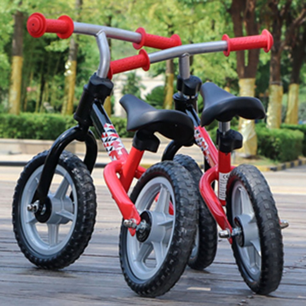 Hd76aab36801c4385a9df395ba988ab12k 10 inch Children Balance Bike Kids Riding Bicycle Indoor Outdoor Balance Bicycle No Foot Pedal Baby Walker Riding Toy
