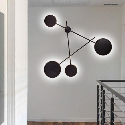 industria moderna lampadas parede redonda quarto