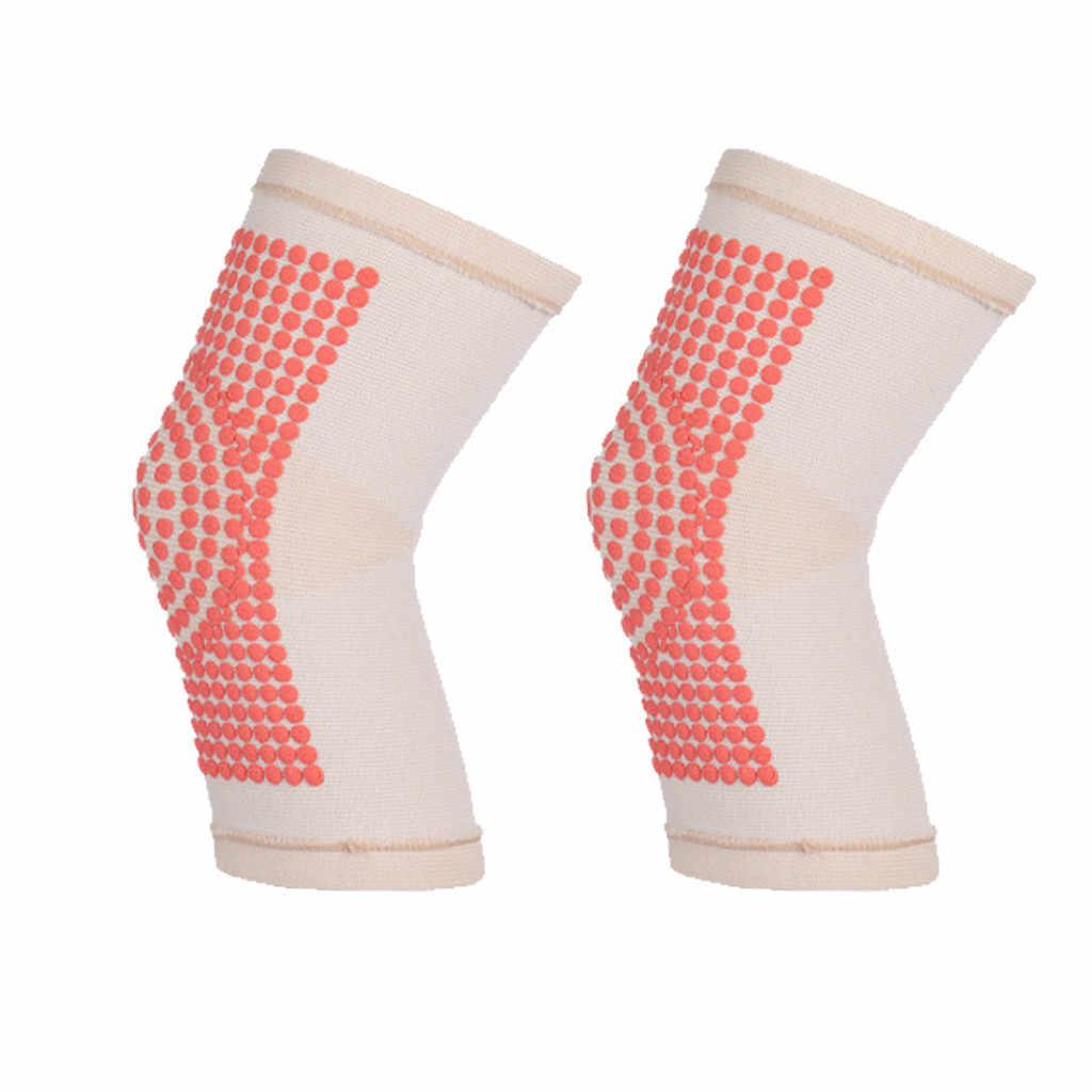 Pemanasan Diri Dukungan Lutut Bantalan Penyangga Lutut Hangat Untuk Arthritis Nyeri Sendi dan Cedera Pemulihan Olahraga Merajut Untuk Arthritis