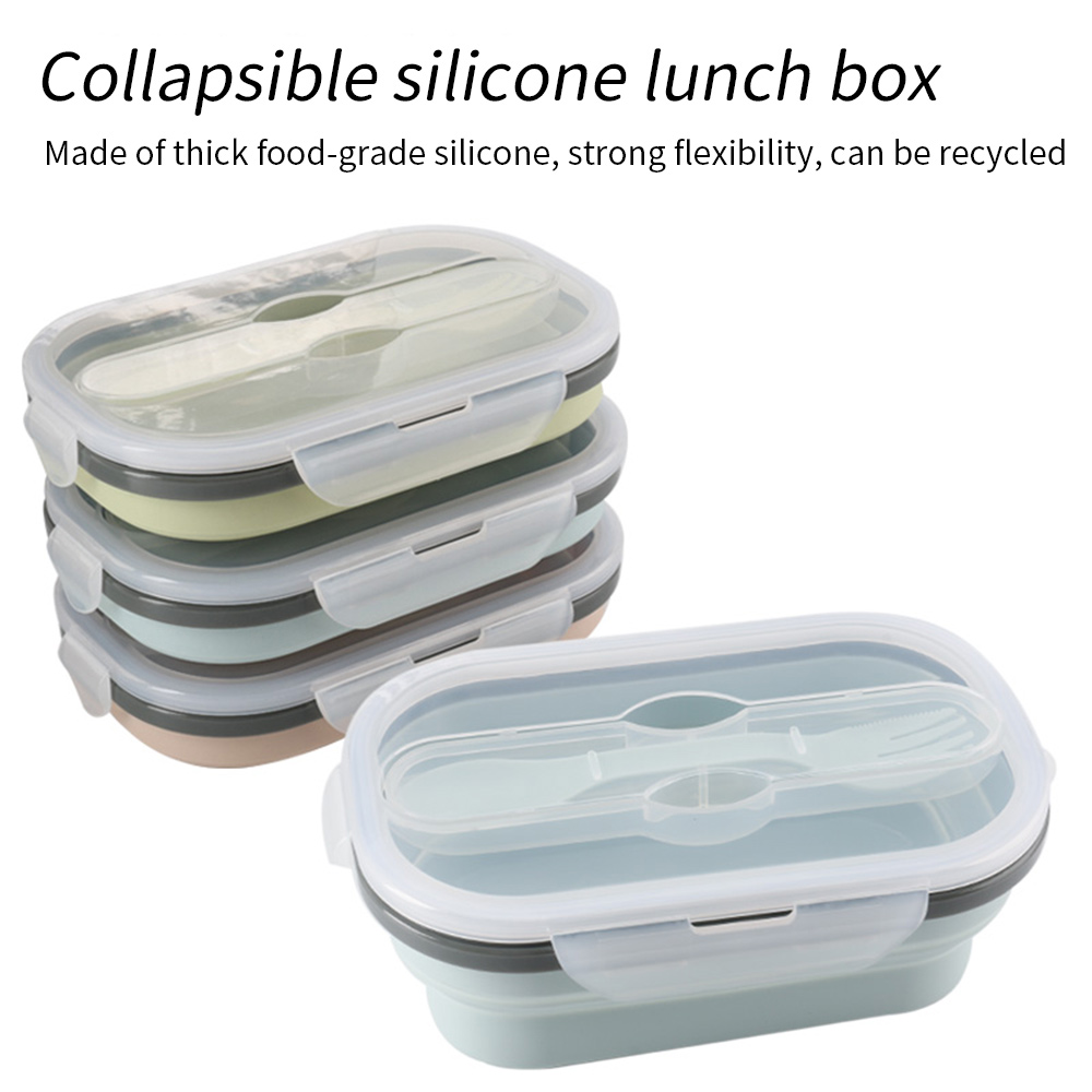 Silicone Folding Lunch Box Portable Collapsible Bento Durable Salad Food Container Bowl Dinnerware Kitchen Accessories