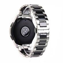 In Acciaio Inox Argento di Ceramica della vigilanza del braccialetto samsung gear sport cinturino di vigilanza gear s3 s2 fascia galaxy watch band 20 millimetri 22 millimetri